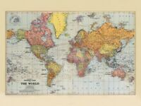 World map stuff for sale gumtree stanfords classic general map of the world 61cm x 50 cm sepia poster gumiabroncs Image collections