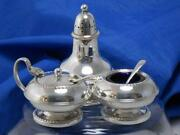 Vintage Glass Cruet Set