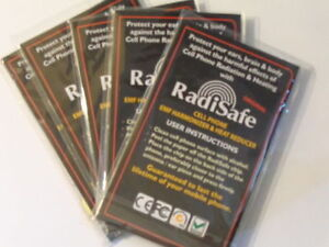 3 x Radisafe Anti Radiation EMF Protection Energy Saver Phone Laptop Stickers