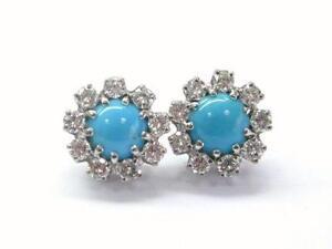 Diamond Turquoise Gold Earring