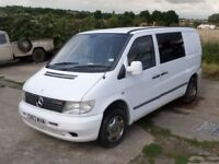 Mercedes Vito Camper/Surf Van/Day Van 2003/03 White / Privacy Glass side doors.