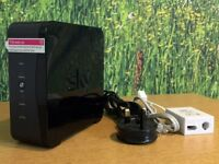 2 x SKY HUB SR-102 Wireless Routers