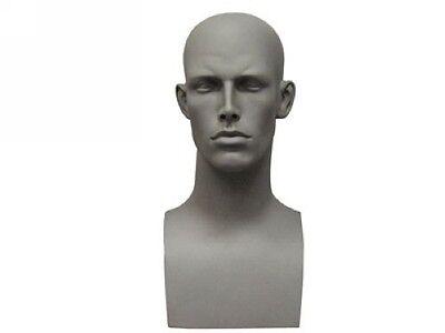 Male Mannequin Head Bust Wig Hat Jewelry Display #EraG