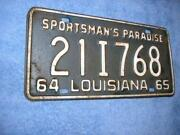 Vintage Louisiana License Plate