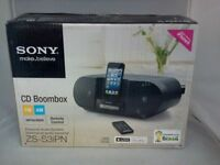 Sony ZSS3IPN Lightning iPhone/iPod Portable CD Radio Boombox