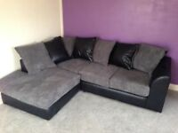 Grey and black corner sofa can deliver