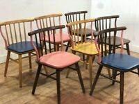 Job Lot 16 Assorted Mixed Solid Wood Quality Side Chairs Pub Bar Restaurant