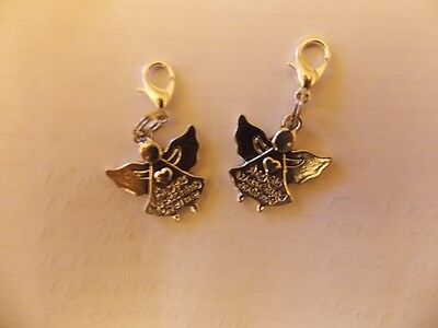 ANGELS WATCHING OVER ME clip on charm with lobster clasp for charm bracelets