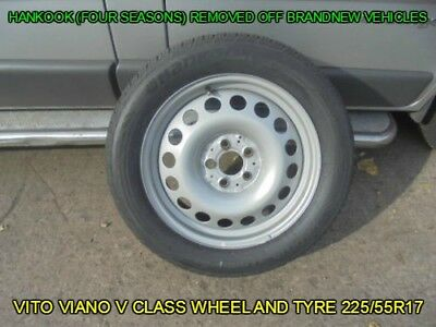 GENUINE MERCEDES VITO VIANO V CLASS W447 WHEEL AND TYRE 225/55R17 101H - HANKOOK