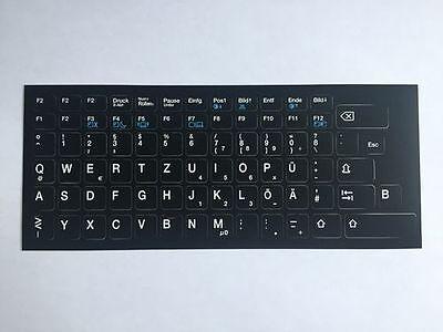 TOP Qualitäts Tastaturaufkleber - Layout DEUTSCH speziell für Lenovo / IBM