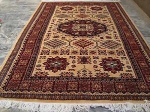 Fine Shirvan Kuba Kazak Beige Veg Dyed Hand Knotted Area Rug Wool Carpet (6 x 4)'