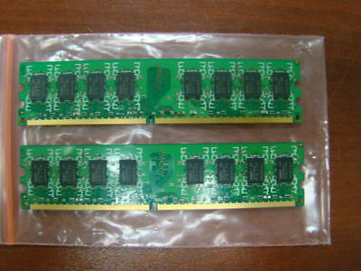 Brand 4GB 2X2GB DDR2 2RX8 PC2-6400U 800MHz 240PIN DIMM Intel RAM Desktop memory