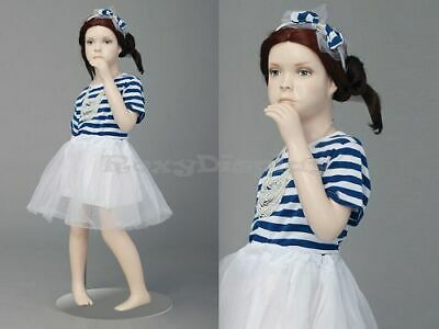 Child Fiberglass Cute Realistic Mannequin Dress Form Display Mz-ita1
