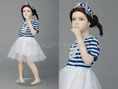 Child Fiberglass Cute Realistic Mannequin Dress Form Display Mz-ita1