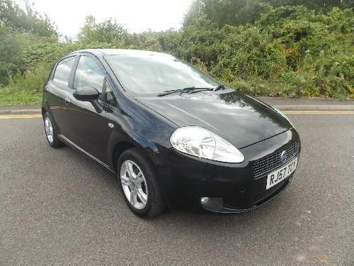 fiat grande punto 1 4 dynamic sport petrol automatic 5 door black 2007 57 in leicester. Black Bedroom Furniture Sets. Home Design Ideas