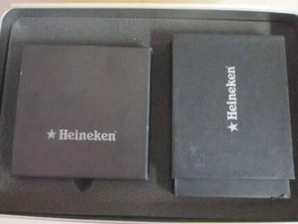 HEINEKEN Coaster & Can Holder Set in Tin