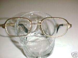 Mens Vintage German  Eyeglasses textured Gold Nice!