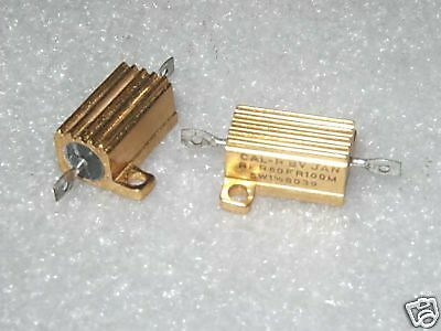 0.10 Ohm 1 5w Cal-r Jan Rer60fr100m Precision Ww Power Resistors - 2 Pcs