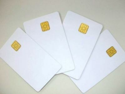 100 PCs Contact IC card 4428 Chip Smart Card PVC Blank White Contact IC Card