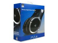 ⭐PS4 WIRELESS DIGITALSTEREO HEADSET. PLAYSTATION OFFICIAL LICENSED PRODUCT. PREOWNED. IMMACULATE CON