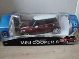Radio Controlled Car - Nikko Mini Cooper S - Red - Boxed - Good working order - £10