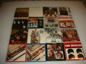 THE BEATLES MINIATURE ALBUM COLLECTION GUM PACKS SET 16 CHU-BOPS