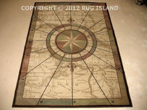 compass rug  ebay, Rug/