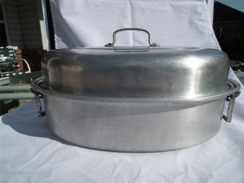 Vintage Aluminum Roasting Pan Ebay
