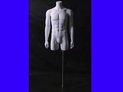 Fiberglass Male Mannequin Dress Form Display Torso Half Body Clothing Md-tmw