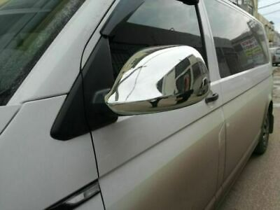 VW T5 Transporter 2010-2015 Chrome Mirror Covers 2Pcs Stainless Steel