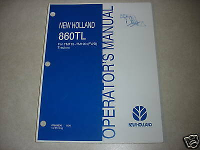 New Holland 860tl 860 Tl Tractor Loader Owners Maintenance Manual