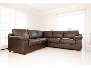 Brown Leather Corner Sofas | eBay