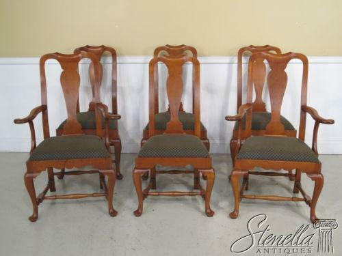 Queen anne dining chair ebay for Dining room chairs queen anne