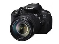 Canon 700D 18MP Digital DSLR camera with big zoom lens+ 64GB memory