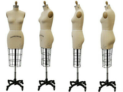 Professional Pro Female Working Dress Form Mannequin Half Size 4 Whip
