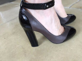Lanvin High Heeled Leather Shoes with Ankle Strap - Size 3, In Top Condition