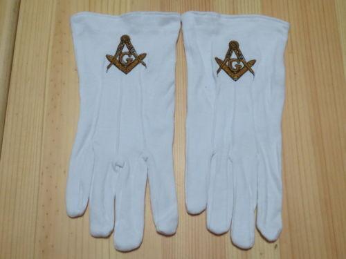 Masonic Gloves Customized  Embroidery G1 freemason