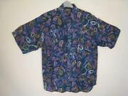 Mens Silk Shirt Short Sleeve