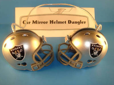 OAKLAND RAIDERS CAR MIRROR NFL FOOTBALL HELMET DANGLER - HANG FROM ANYTHING!