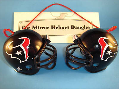 HOUSTON TEXANS CAR MIRROR NFL FOOTBALL HELMET DANGLER - HANG FROM ANYTHING!
