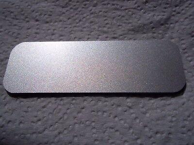 20 Silverblack Blank Name Badge Tag 1x3 Magnet Back Round Corners Wholesale