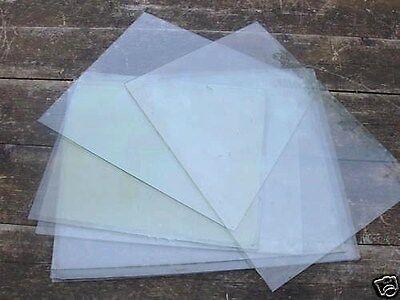 Lot de 12 vitres en verre ancien XIXe siècle - Dimension supérieure à 12 x 12 cm