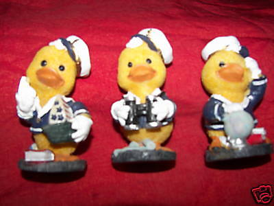 lot set of 3 cute sailor dressed ducks with white - Cute Sailor Hats