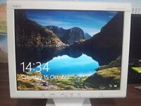 """NEC 15"""" and Lenovo 19"""" LCD Flat Wide Screen Monitor for PC or CCTV (Excellent Working Condition)"""