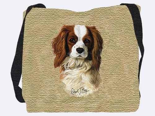 Woven Tote Bag - Cavalier King Charles Spaniel 1148