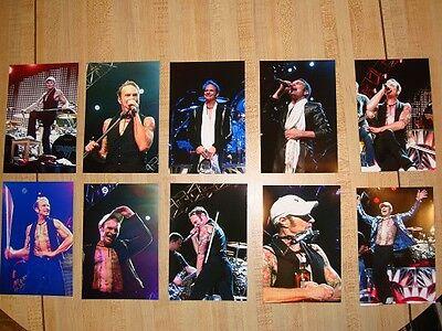 Van Halen 2015 Set Of 10 Color 4 X 6 David Lee Roth Photos Tampa,FL