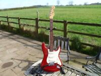Sunn Mustang Stratocaster By Fender great condition plays superbly well.