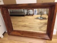 JOHN LEWIS MAHARANI dark wood mirror GOOD CONDITION
