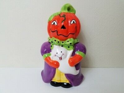 Pumpkin Halloween Cookie Jar Ghost Home Decor Holiday Decoration Candy Kitchen