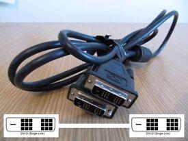 2Metre DVI-D Digital Monitor 18+1 Single Link Male to Male Lead 26-1663
